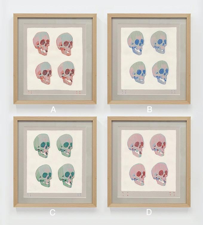 """""""Skull sequences"""" original artworks by Aryz"""