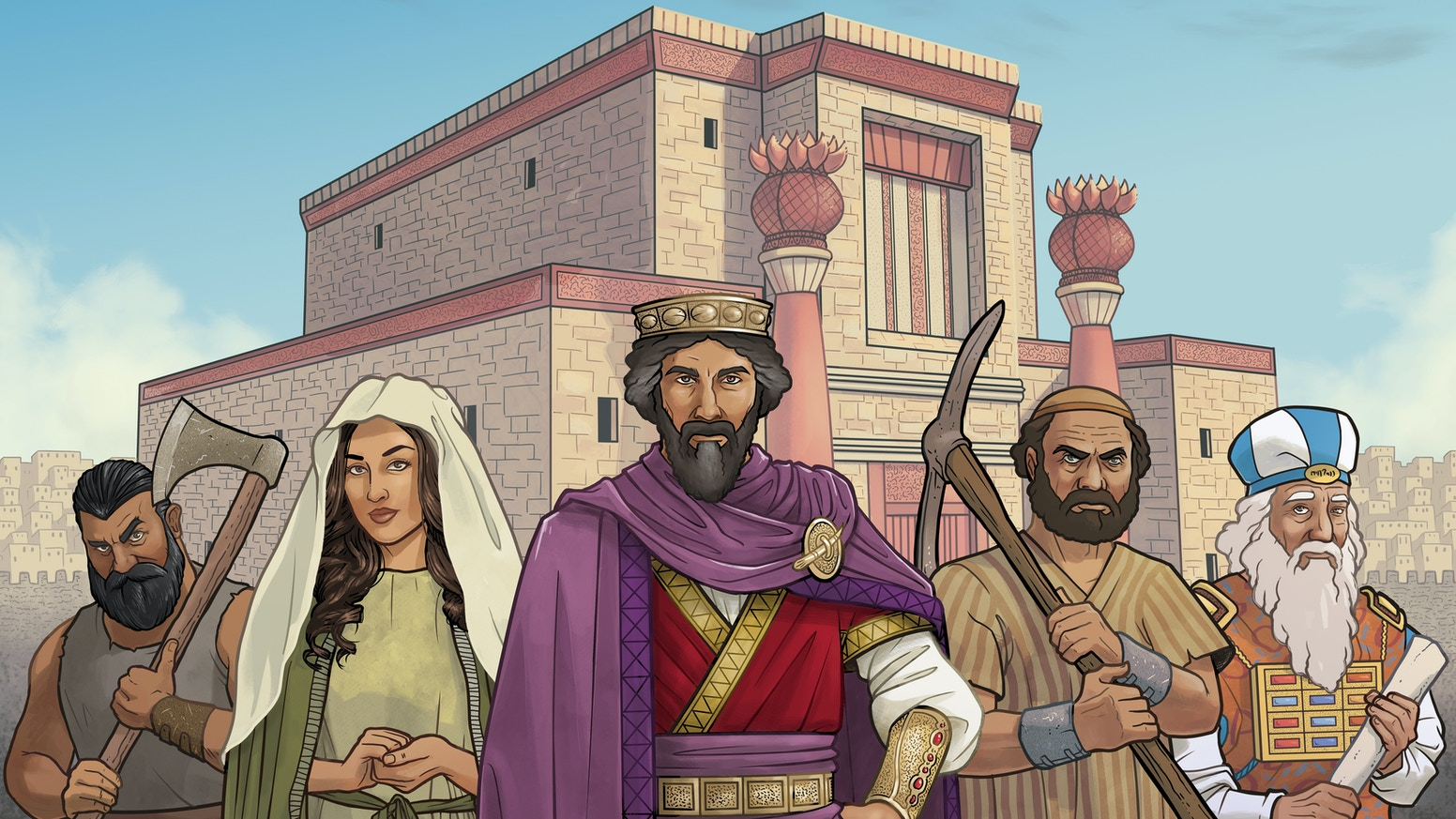 A strategic worker placement board game taking place in ancient Israel.  Buy, sell, build, and expand your way to victory!