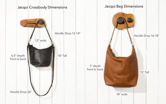 Numbers will vary slightly due to the drape of the bag.