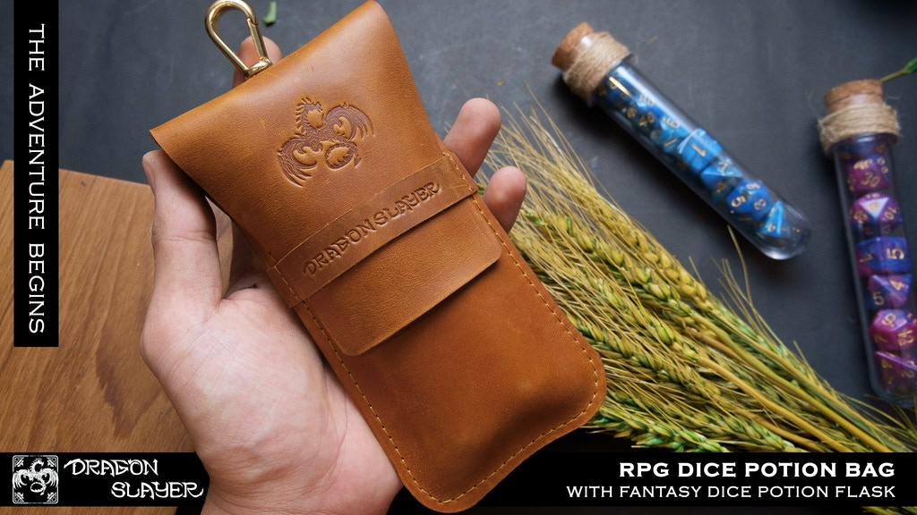 RPG DICE POTION BAG WITH FANTASY DICE POTION FLASK project video thumbnail