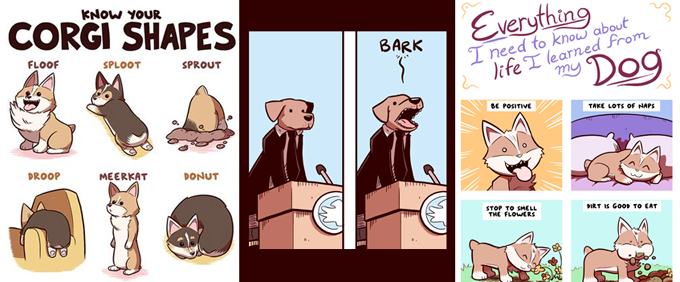 Click to see some sample comics!