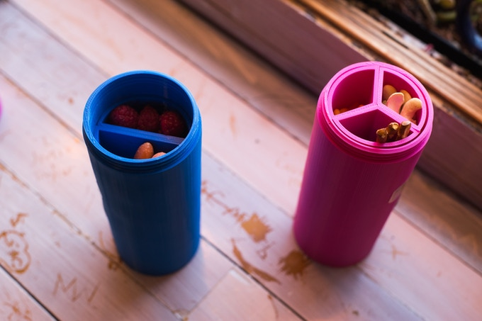 Cup Buddy holds all your snacks in one place.