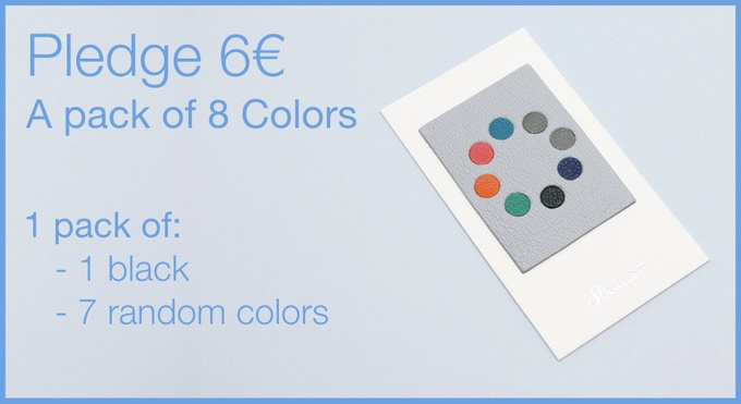 Pledge 6€ - A pack of 8 Leather Webcam Covers. 1 black and 7 random colors
