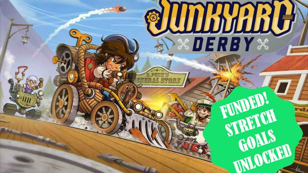 Junkyard Derby - Steampunk Racing Board Game project video thumbnail
