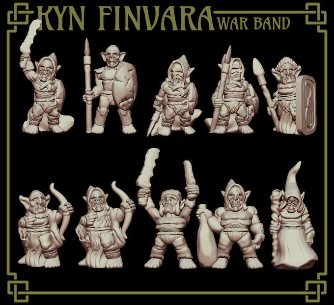 The base Kyn Finvara war band.