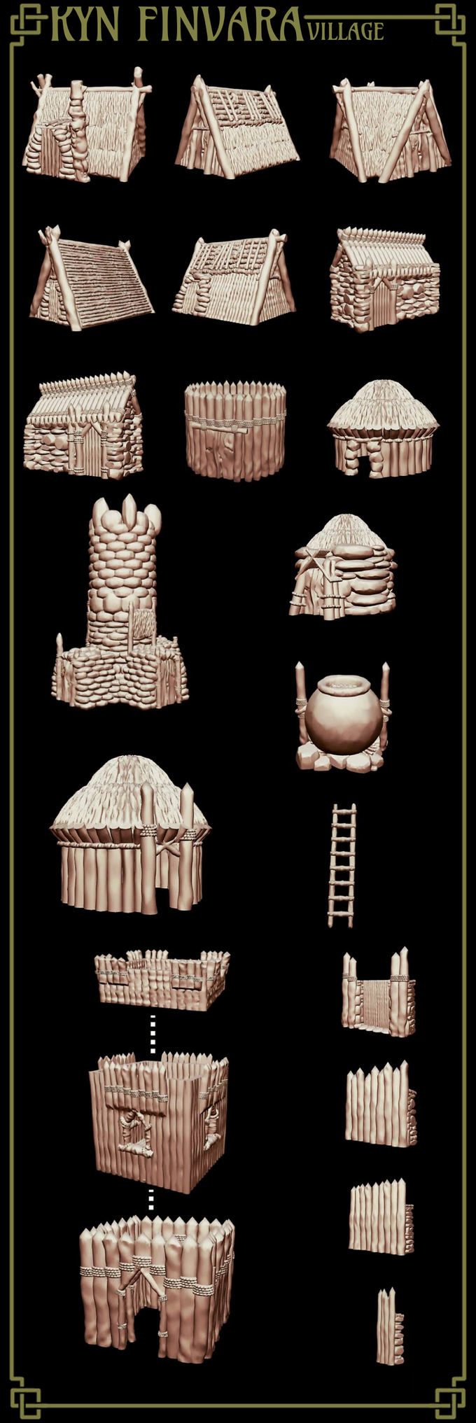 The base village building rewards.
