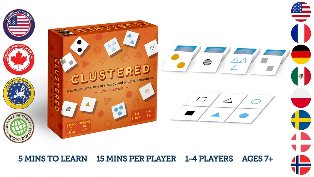 Clustered: 2nd edition - A Strategic Card Game project video thumbnail