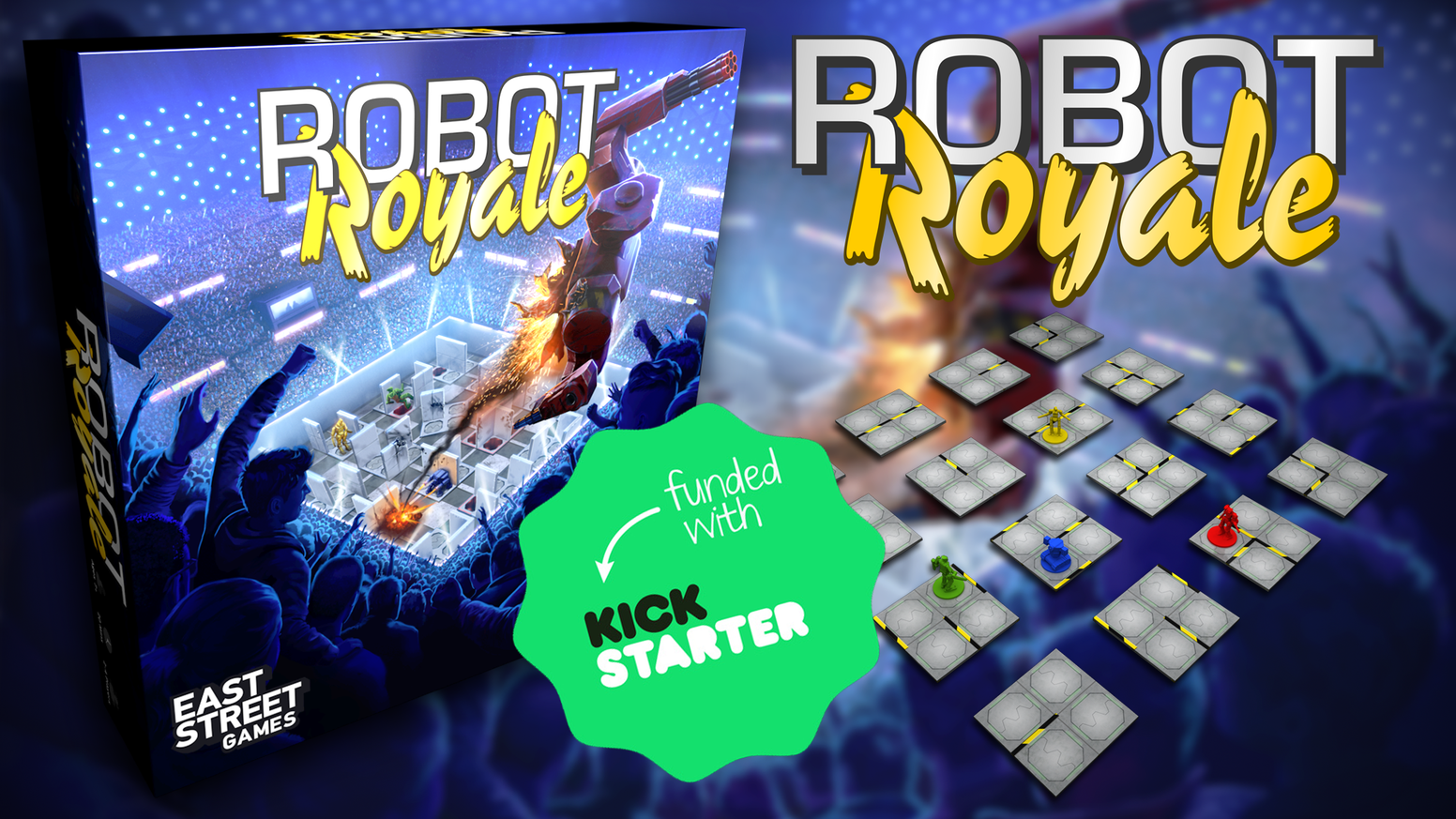 A fun and tactical board game set in the near future where players control robots battling in a constantly changing arena.