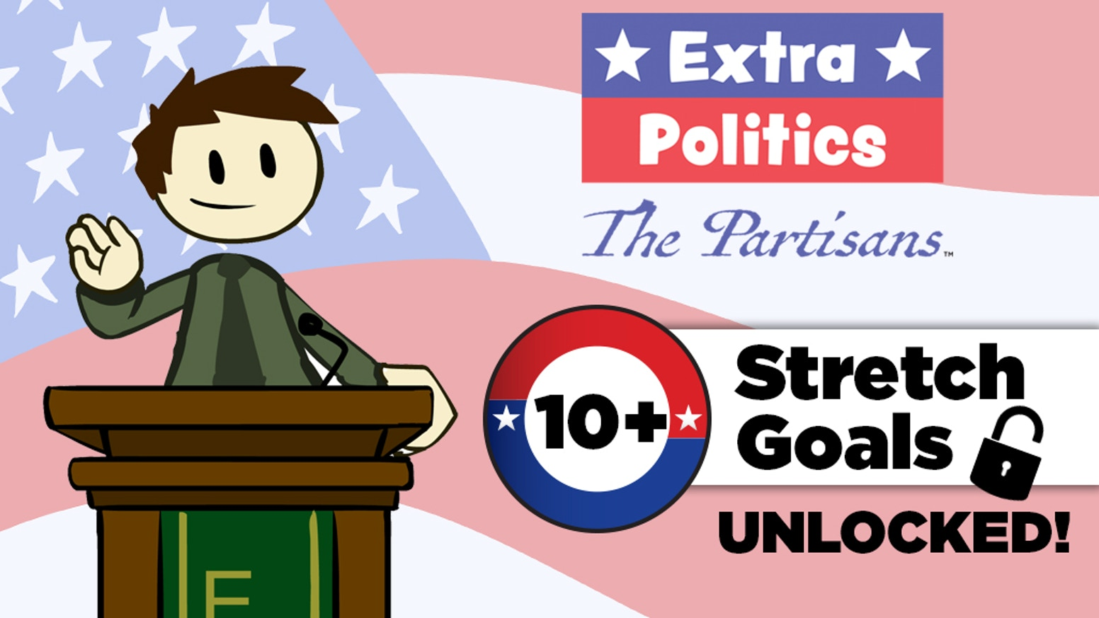 In The Partisans, multiple political ideologies battle for control. This game is based on the Extra Politics series by Extra Credits.