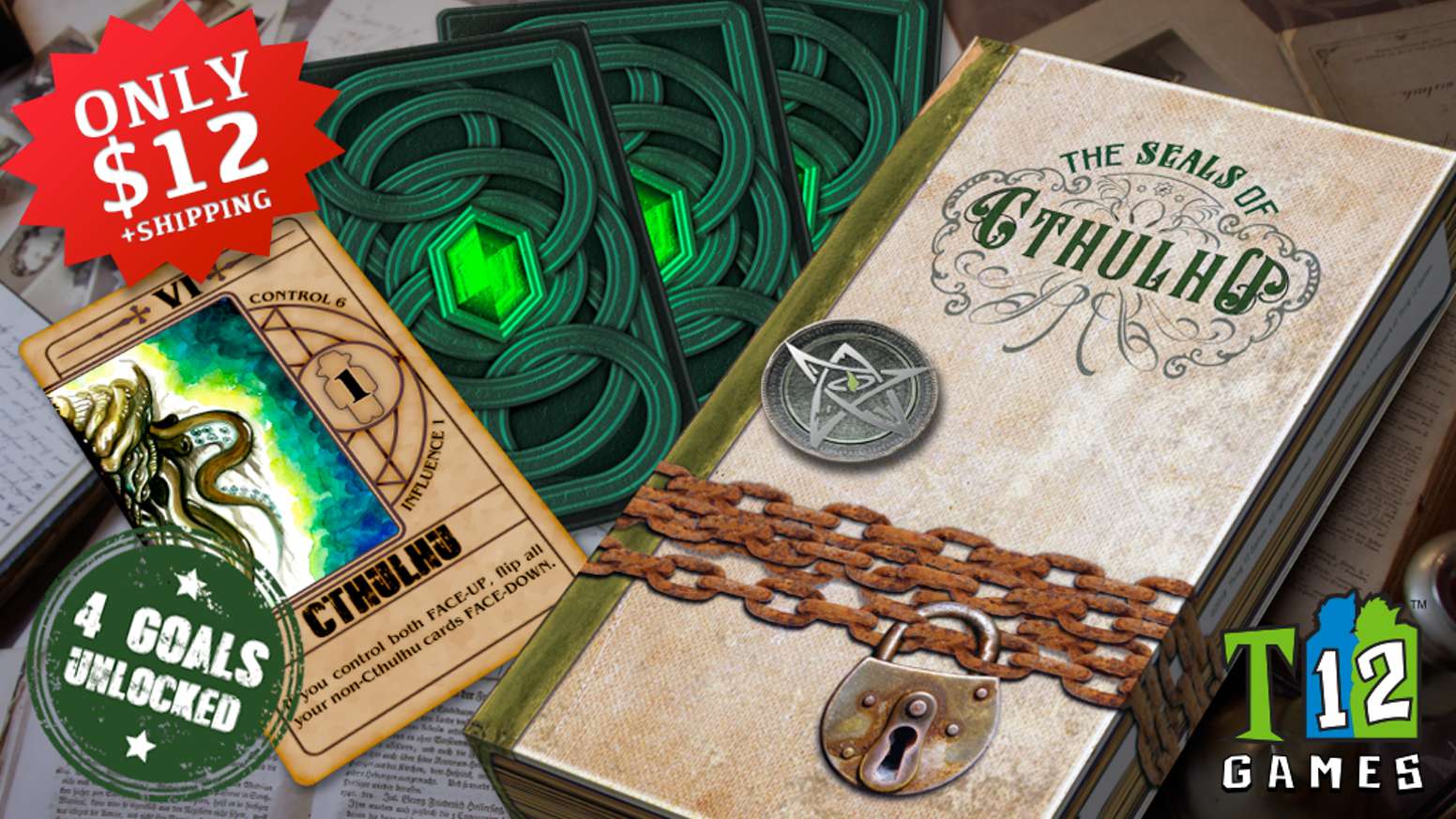 A strategic bidding and bluffing card game, set within a Cthulhian universe, where 2 players battle for the fate of the world.
