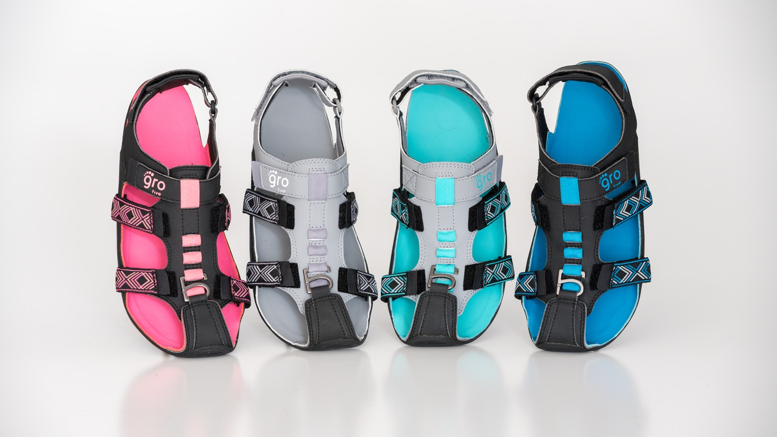 "Inspired by the nonprofit ""The Shoe That Grows"", redesigned as the most functional, durable, and FUN footwear for your family! Now in stock and shipping!"