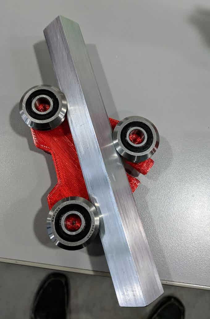 V roller bearing prototype