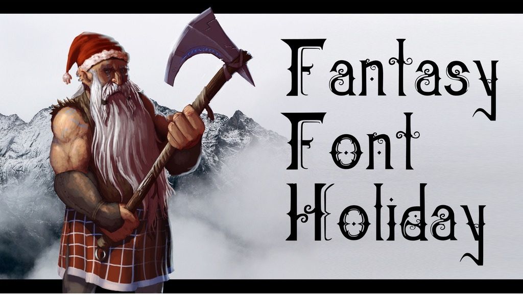 Quickstarter: Fantasy Font - Holiday project video thumbnail