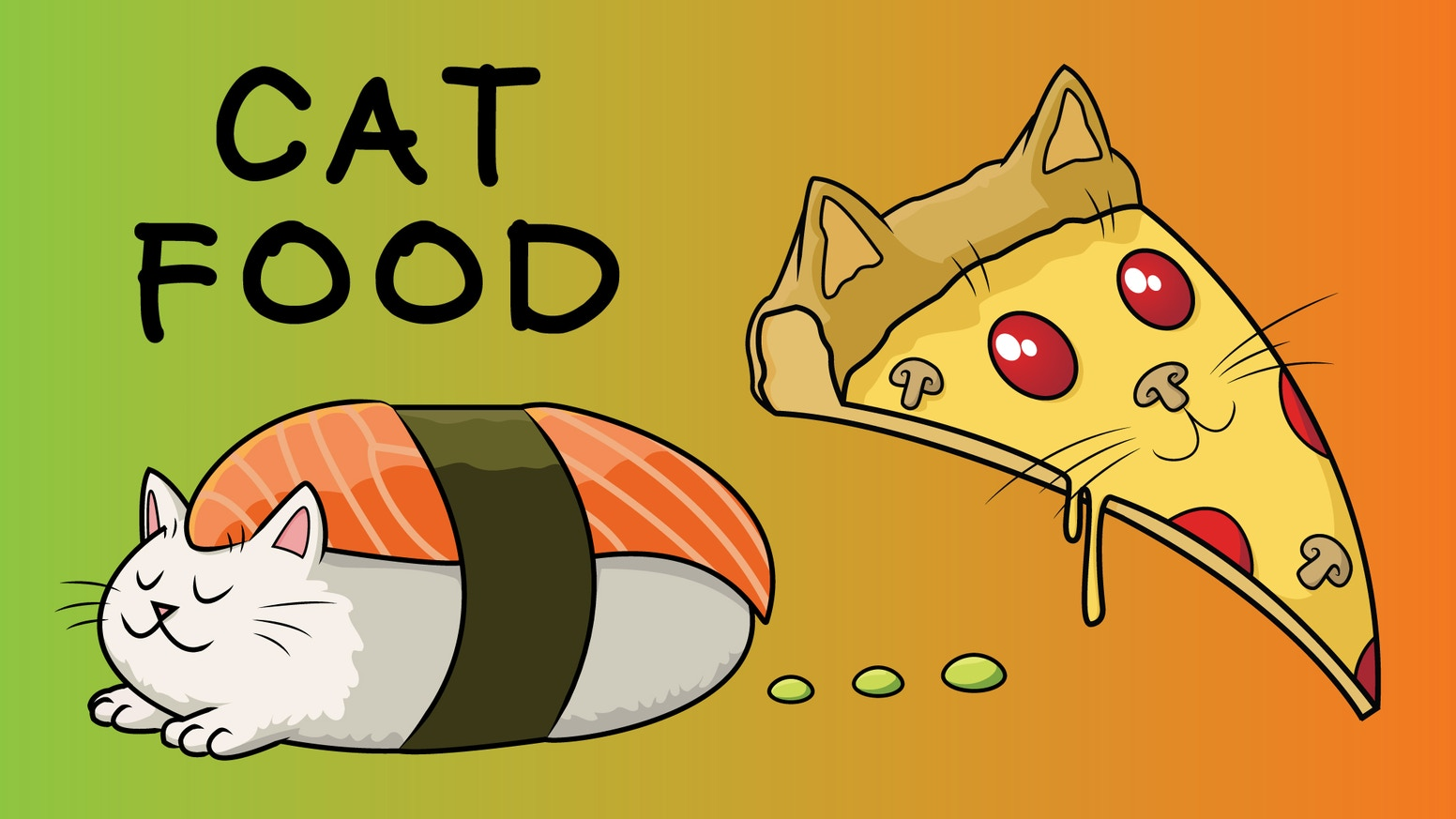 "I would like to present ""Cat Food,"" a series based on two of my favorite things: cats and food."