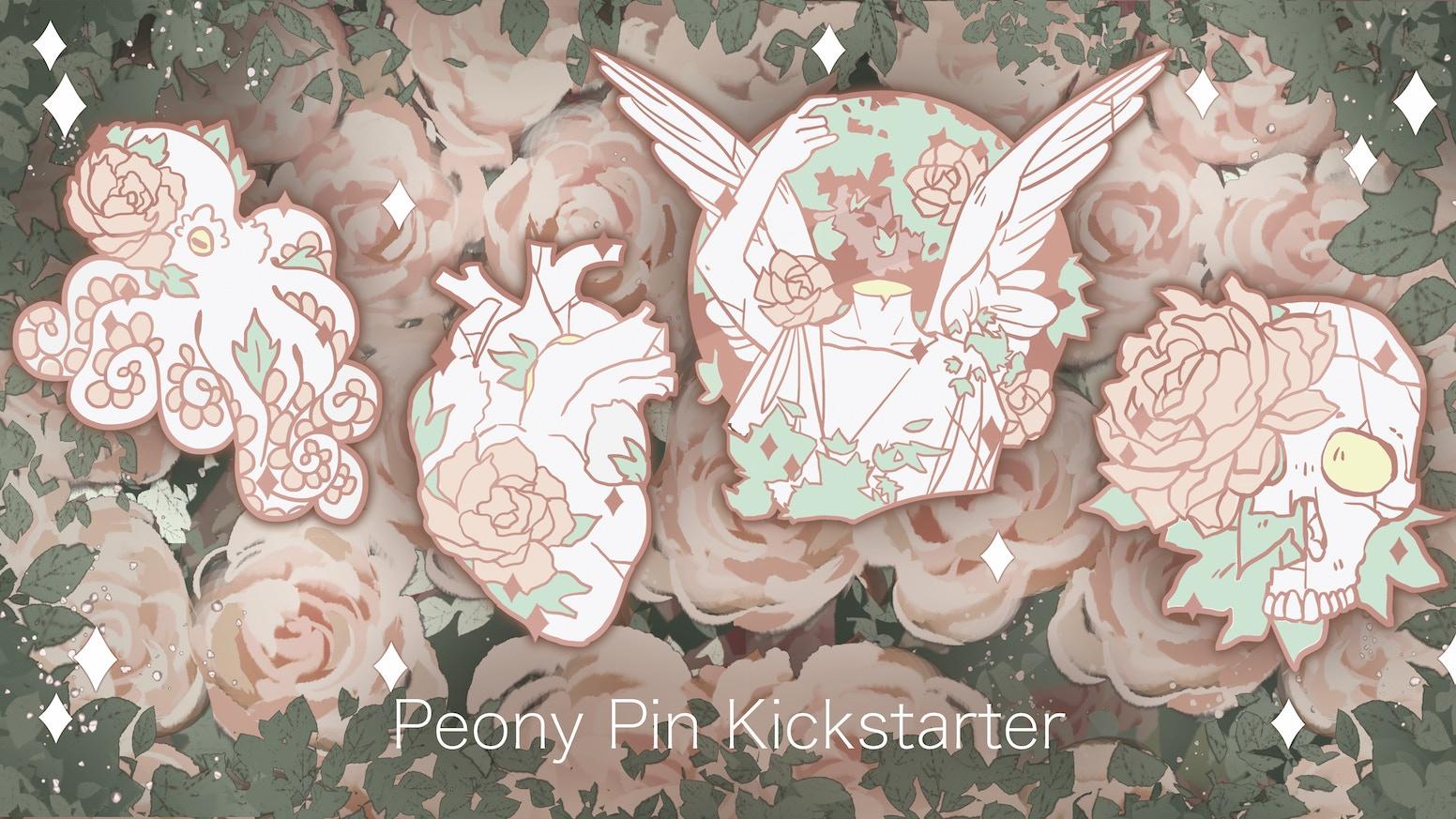 a0319c3de30 Peony Enamel Pins by Paige McIntosh — Kickstarter