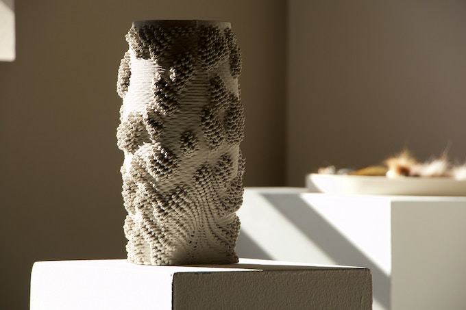 3D printed ceramic vessel designed by Emerging Objects especially for you.