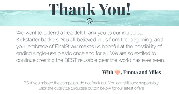 FinalStraw, the world's first collapsible, reusable straw by Emma