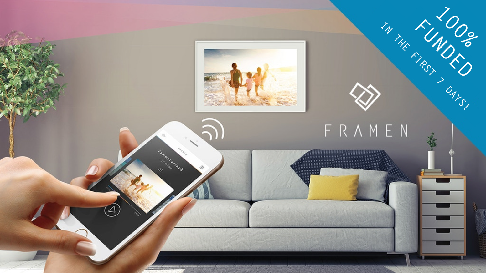 "We created the ""Spotify for Photos"" experience. Stream photos you love to the FRAMEN Player!"