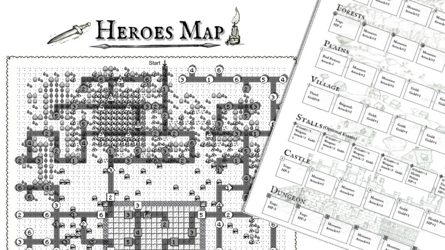 A tabletop game for one or more players: find the optimal path to win