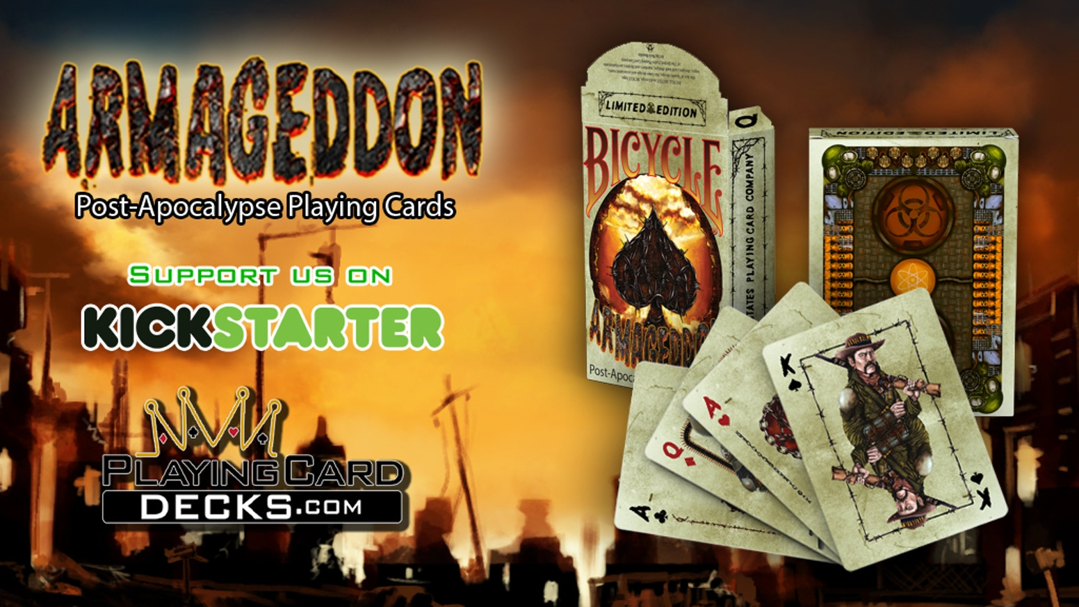 Armageddon Post-Apocalypse Bicycle Playing Cards Poker Size by Will