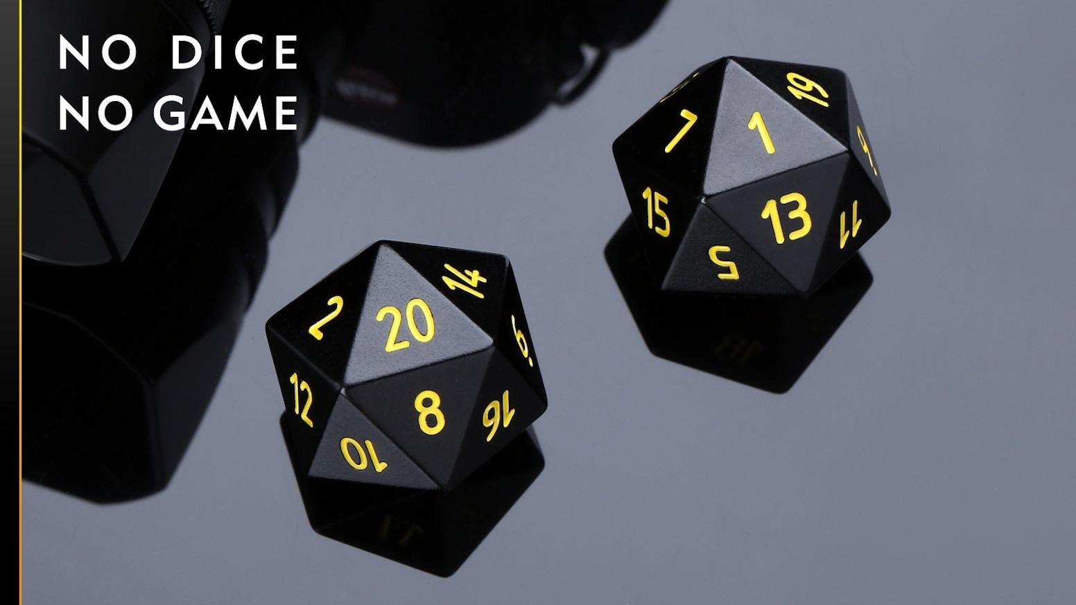 No Dice, No Game! Titanium, Zirconium, 440C Steel, Aluminum and Sliver for your choice!