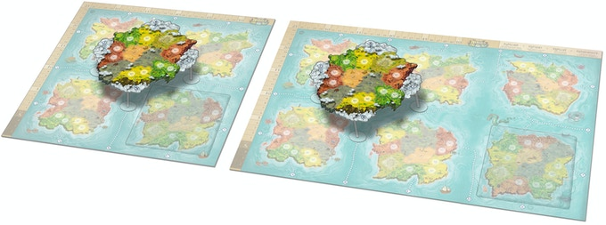 Both the Floating Continent and the Sunken Continent are usable with any player count.