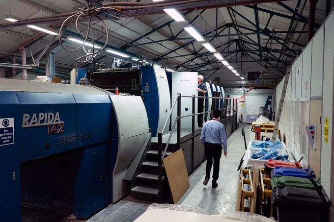 One of our printer's state-of-the-art presses