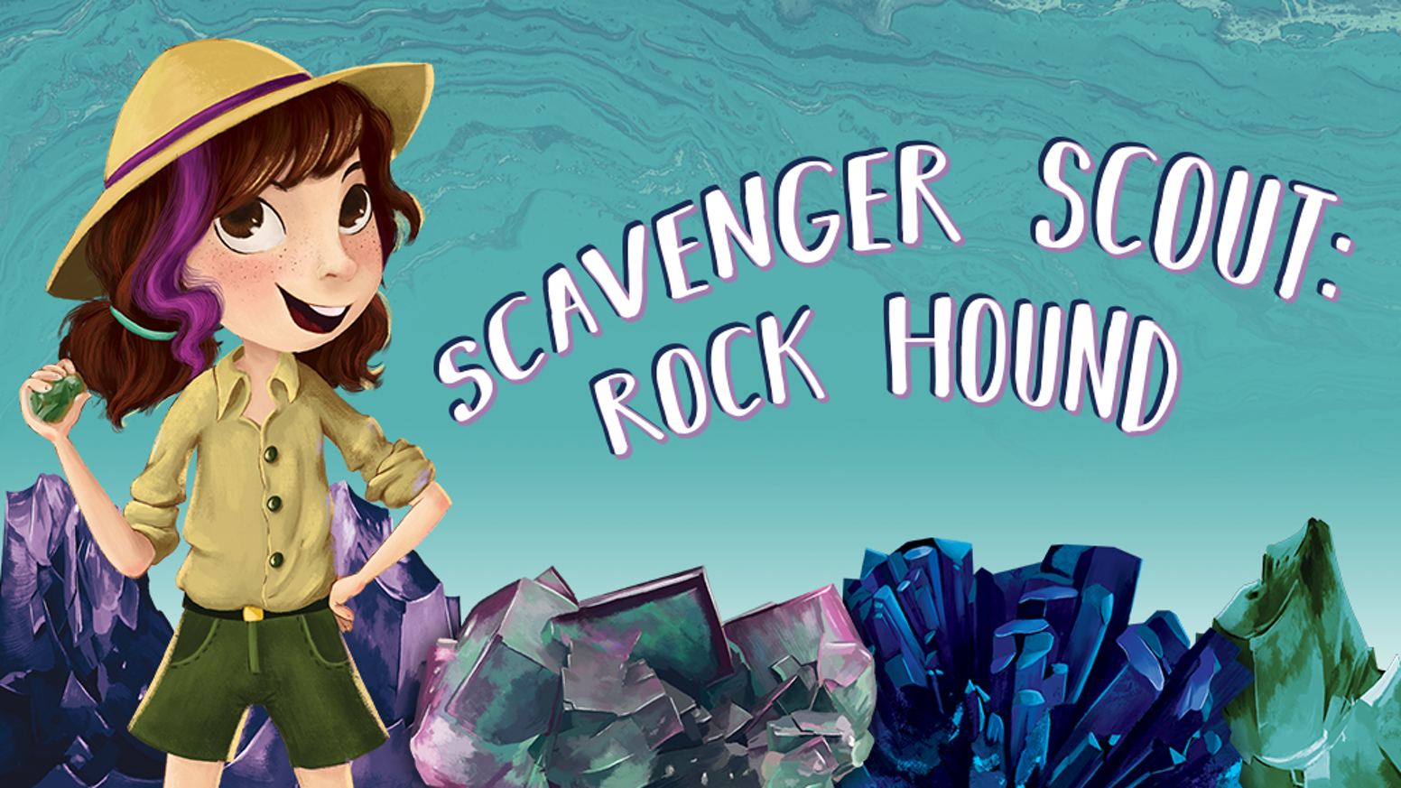 A STEM-inspired story about a resourceful girl rock hound who tells fantastic tales about how she hunted each of her real-life rocks.