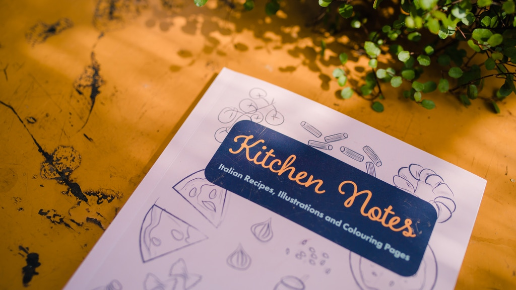 Kitchen Notes, illustrated Italian recipe book project video thumbnail