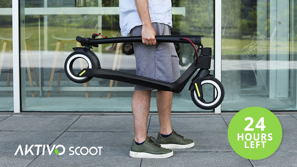 AKTIVO Scoot | World's first hubless electric scooter. project video thumbnail