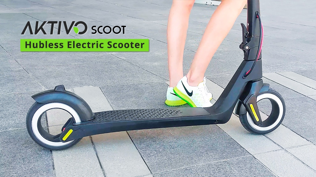AKTIVO Scoot | World's first hubless electric scooter.