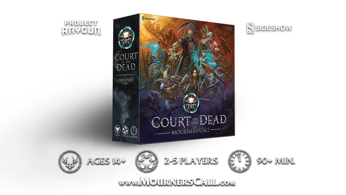 Court Of The Dead Mourners Call Board Game By Project Raygun