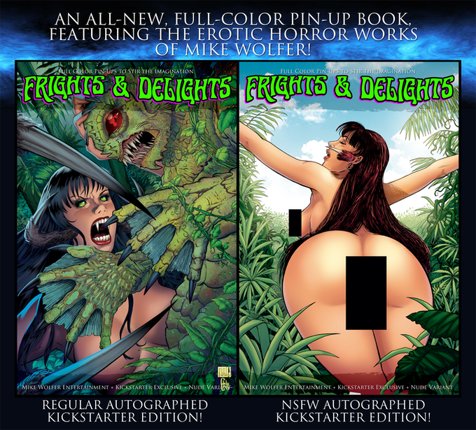 Regular Cover available at all Levels! Nude Variant available at all levels only as a $20 Add-On.