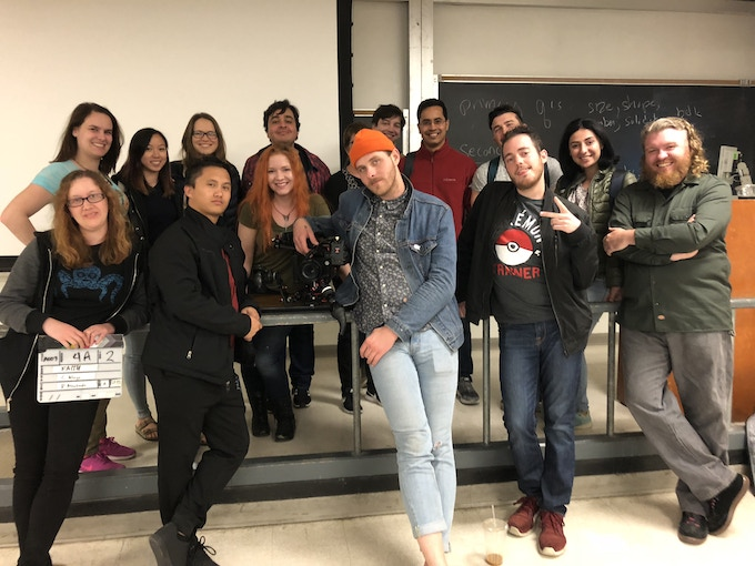 Select cast and crew on set