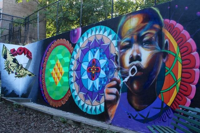 One of the newer murals in Southeast. (Gabrielle Tillenburg / DCist)