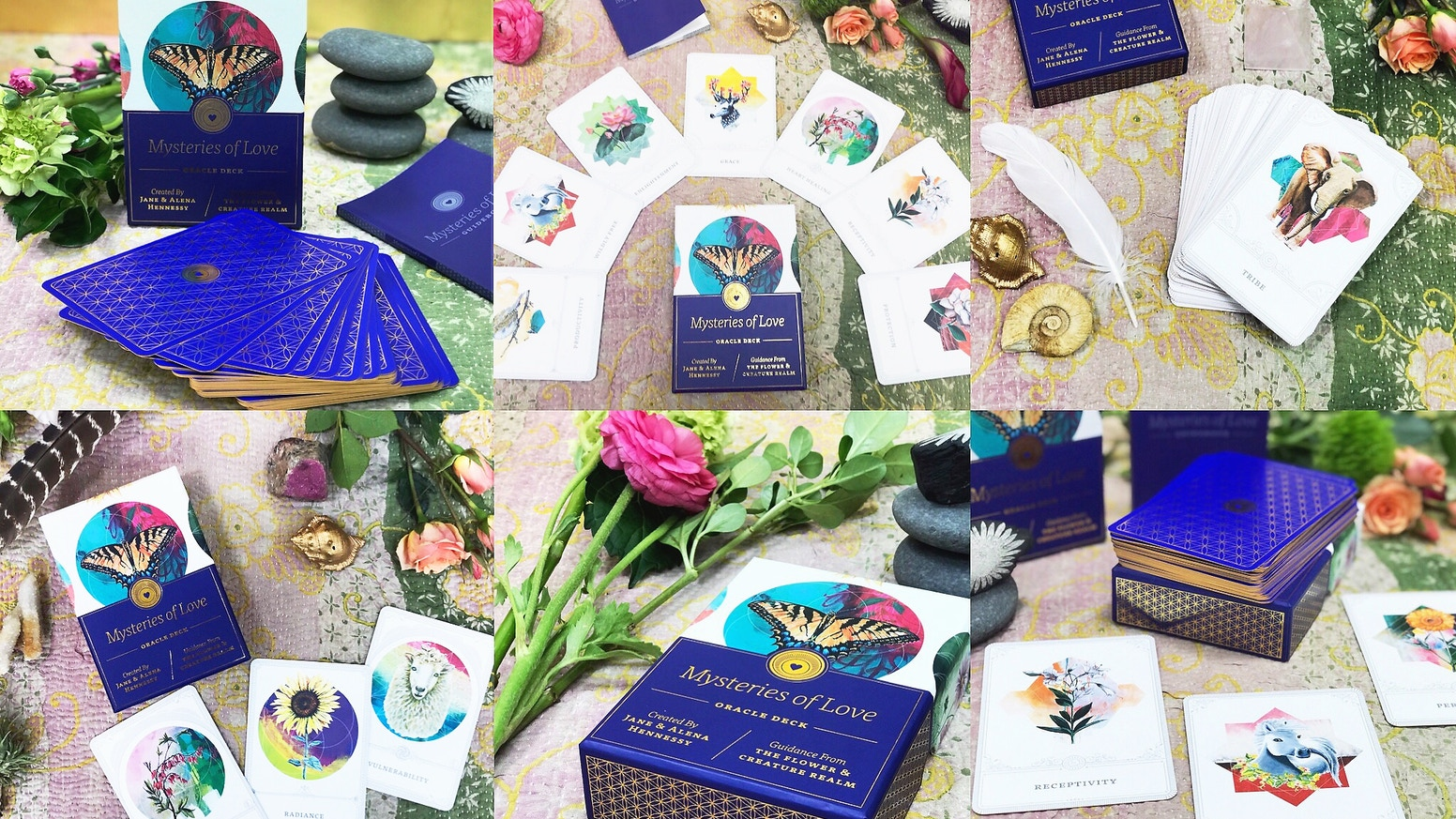 A 48 card set + guidebook, created by Jane and Alena Hennessy, based on the energies of animal totems and flower essences.