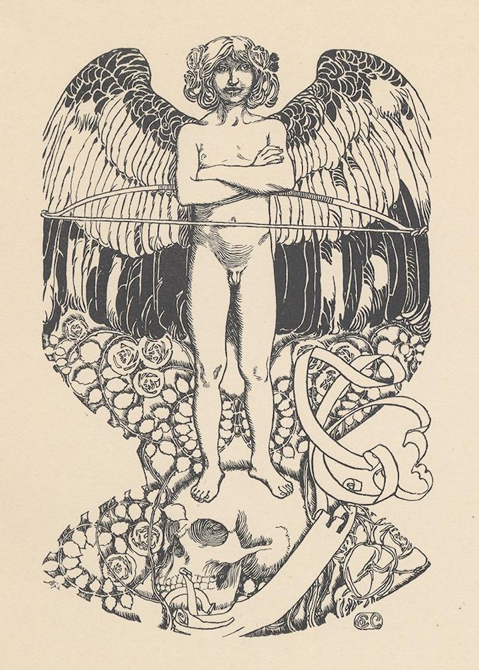 RARE ART NOUVEAU Austria mystical illustration CZESCHKA book by