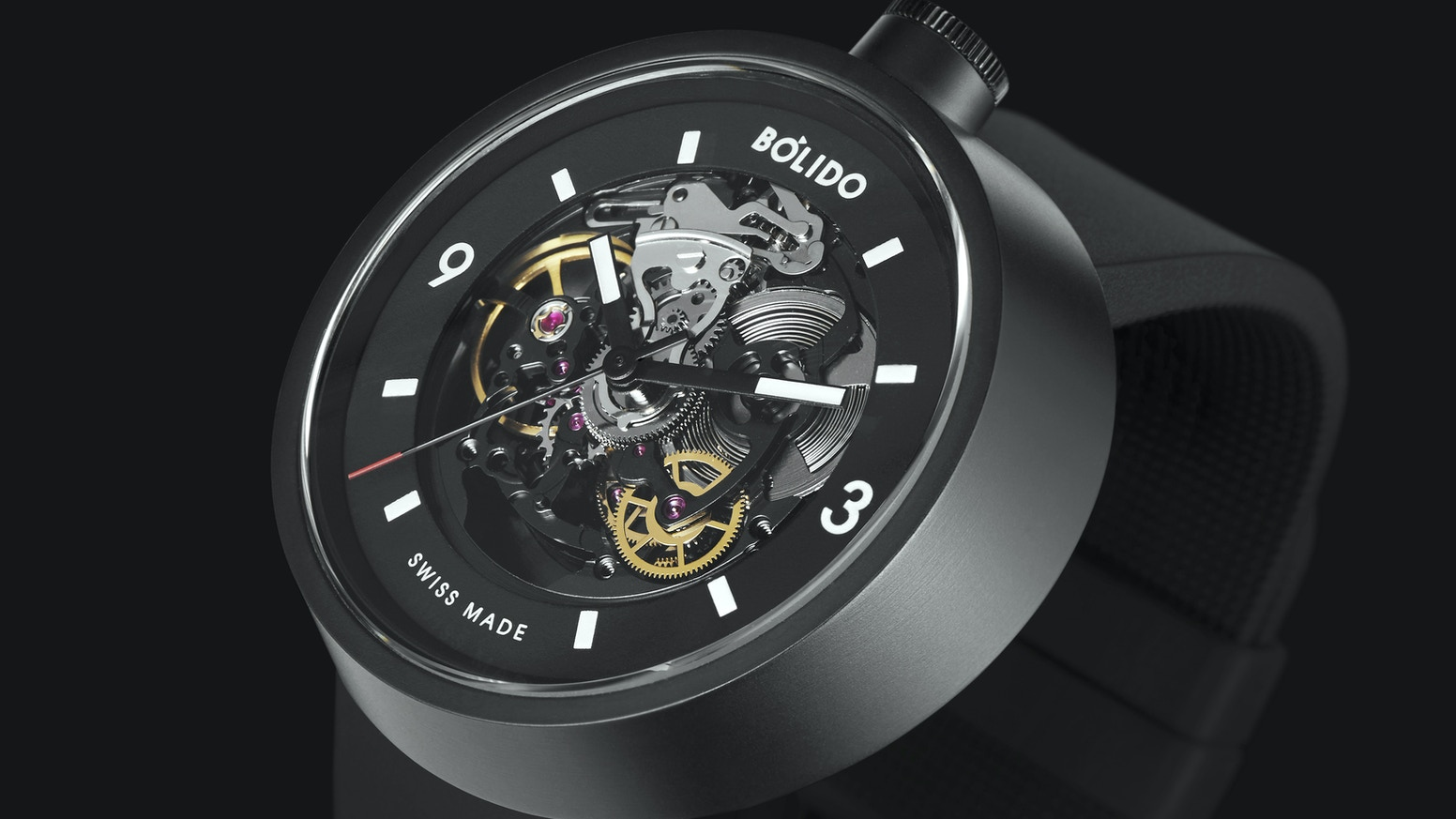Bólido Black Edition Swiss Self Winding Mechanical Watches By