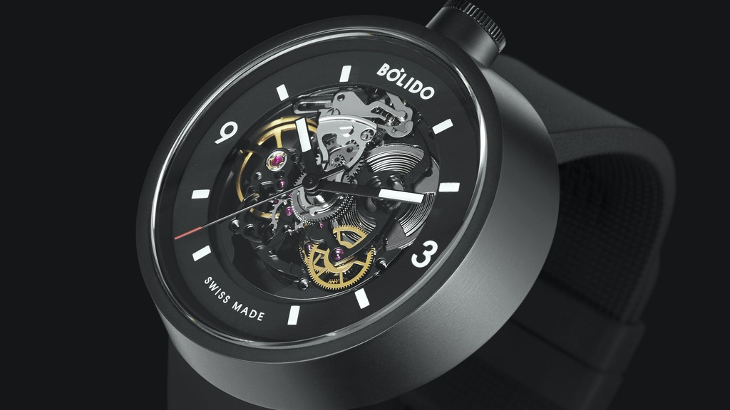 Bólido Black Edition - Swiss self-winding mechanical watches project video thumbnail