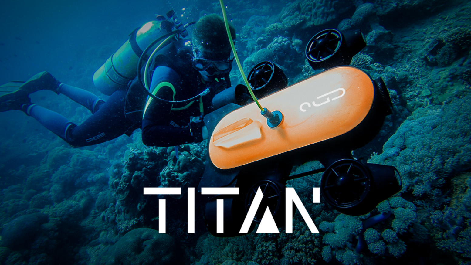 With diving range of up to 150m and 4k UHD camera, Titan makes remote underwater exploration fun, easy, and accessible.