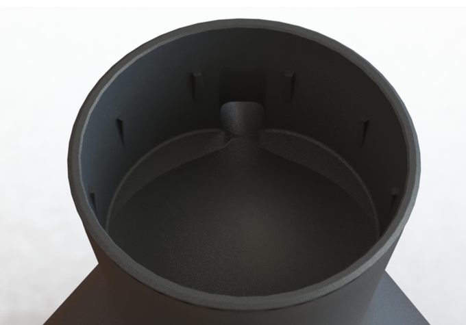 We've designed the internal chamber to split your coffee equally into both cups.