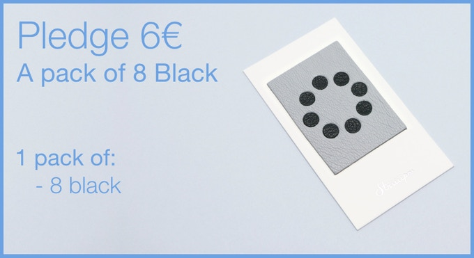 Pledge 6€ - A pack of 8 Leather Webcam Covers. 8 black