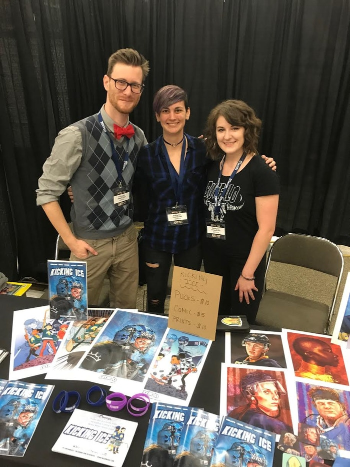 Jamie Jones, Stephanie Phillips, and Joanna Eberts at Nickel City Con.