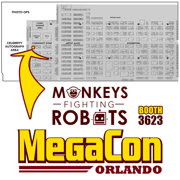 Find us at MegaCon booth 3623.