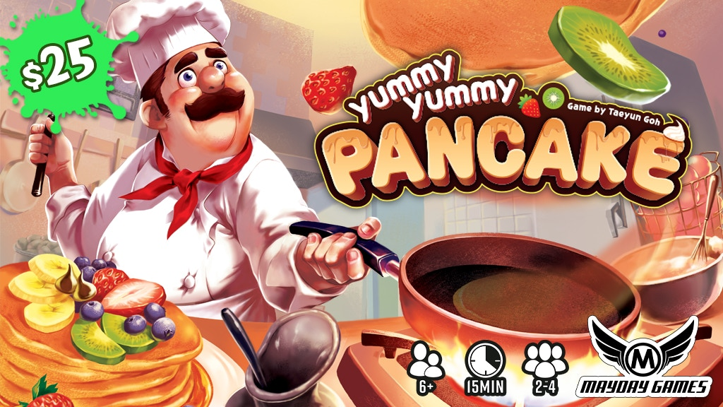Yummy Yummy Pancake 2-4 Player 15 minute Dexterity Game project video thumbnail