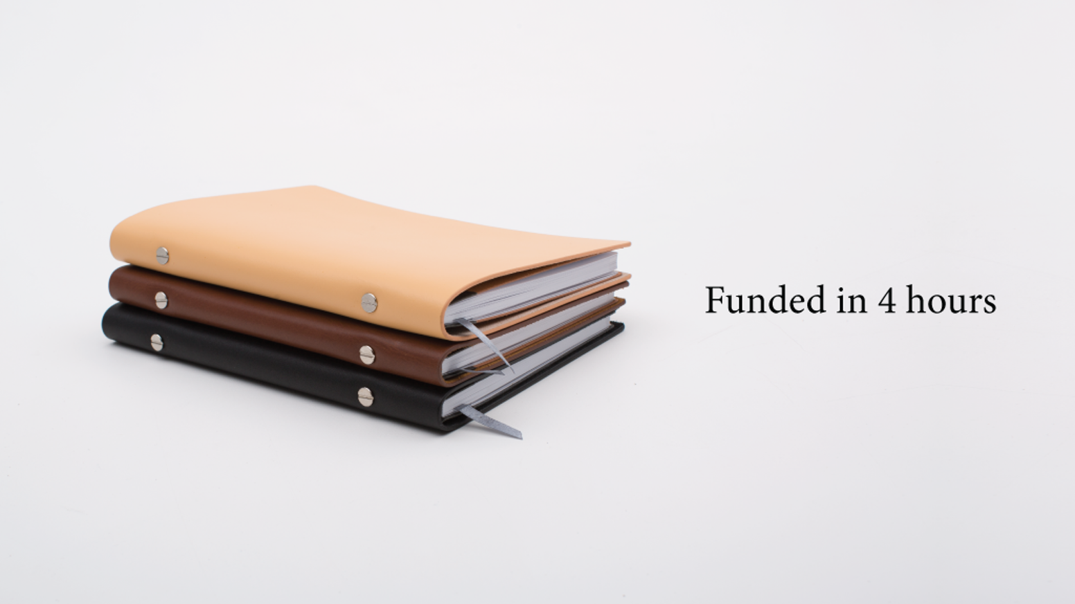 An heirloom quality notebook system you'll want to pass down. Inner notebook refills mount brilliantly into a full-grain leather cover.