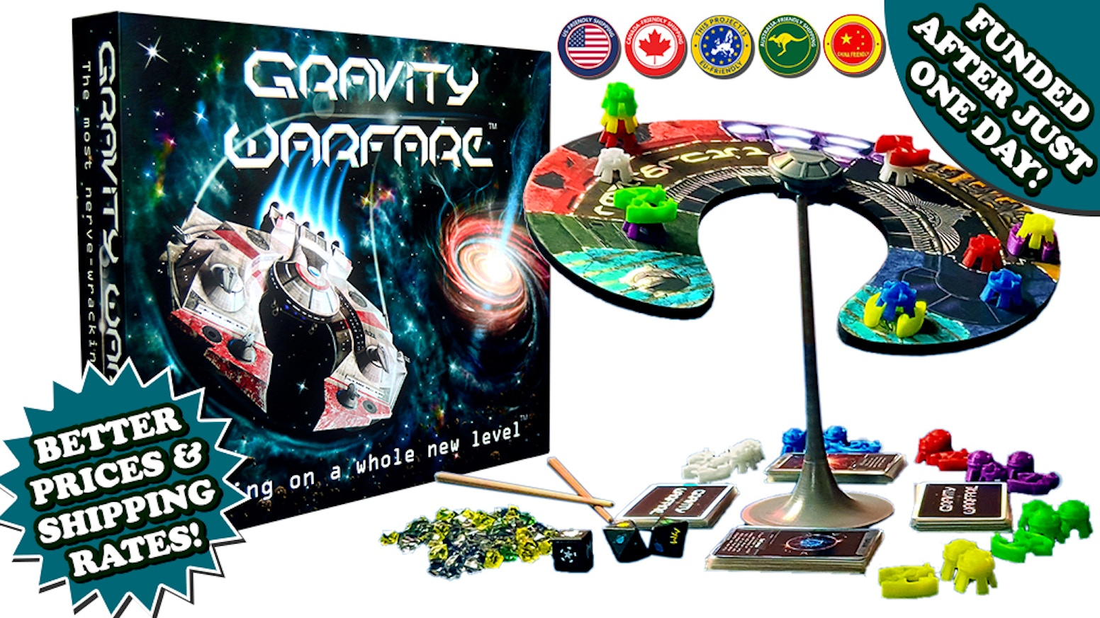 An innovative dexterity & strategy game played on a self balancing board! Players compete to be the first to run out of pieces to play.