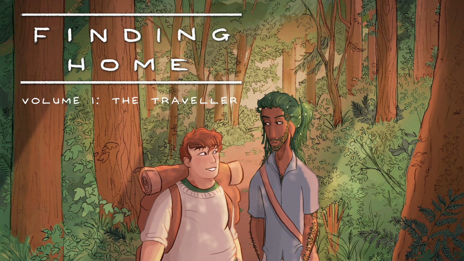 A slow-burn romance comic set in a fantasy world about anxiety, nature, and learning to let yourself grow.