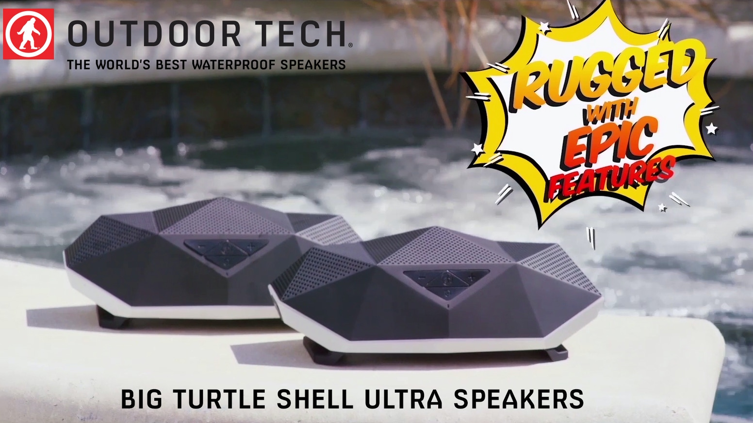 The best waterproof Bluetooth speakers (pair two together) ever created, the Big Turtle Shell Ultra has a power bank and lantern.