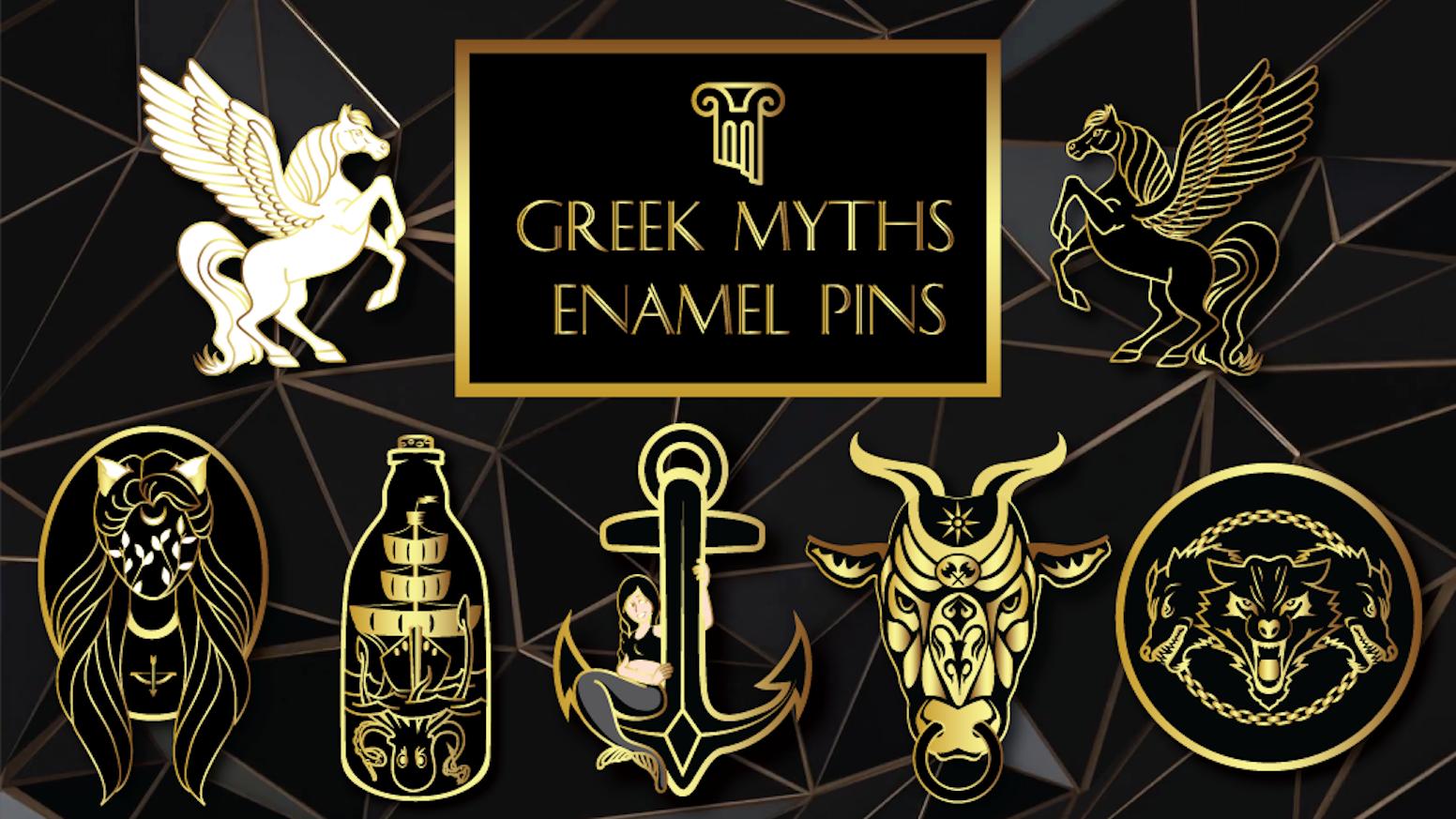 Greek Mythology Enamel Pins By Jane Lake Faq Kickstarter